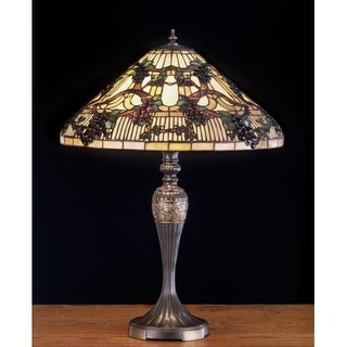Meyda Tiffany 52129 Stained Glass / Tiffany Table Lamp from the Jeweled Grapes Collection