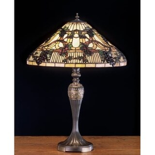 Meyda Tiffany 52129 Stained Glass / Tiffany Table Lamp from the Jeweled Grapes Collection - n/a