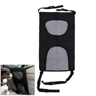 Universal Dual Mesh Car Seat Pet Barrier Separation Isolation Net Fence Cover