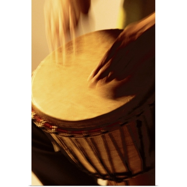 """""""Person playing the bongo drum"""" Poster Print"""