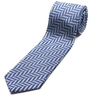 Ermenegildo Zegna Men Slim Silk Neck Tie Z6E08 1L8 A Navy Grey