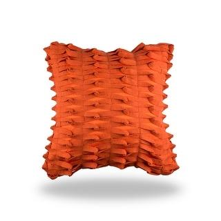 100% Handmade Imported Notice Me ! Pillow Cover, Luminous Orange