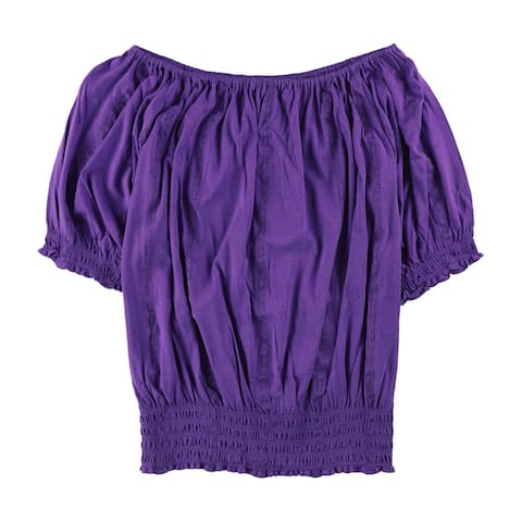 Ralph Lauren Womens Smocked Knit Blouse