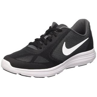 9e7bce24bfe0 Shop Nike Kids Revolution 3 (GS) Dark Grey White Black Running Shoe - Free  Shipping Today - Overstock - 18275182