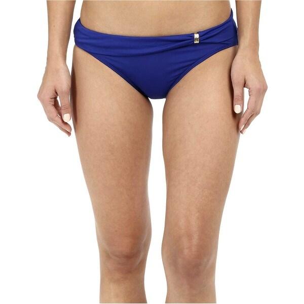 c533a1cb88bed Shop RALPH LAUREN Womens Swimsuit Hipster Bikini Bottom 14 Ocean Blue Sash  Slider - Free Shipping On Orders Over $45 - Overstock - 20896367