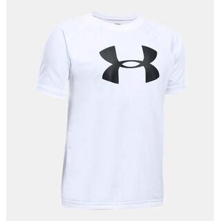 Under Armour Youth Big Logo Short Sleeve T-Shirt - White - YXS