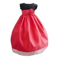 Girls Black Red Velvet Glitter Tulle Christmas Special Occasion Dress