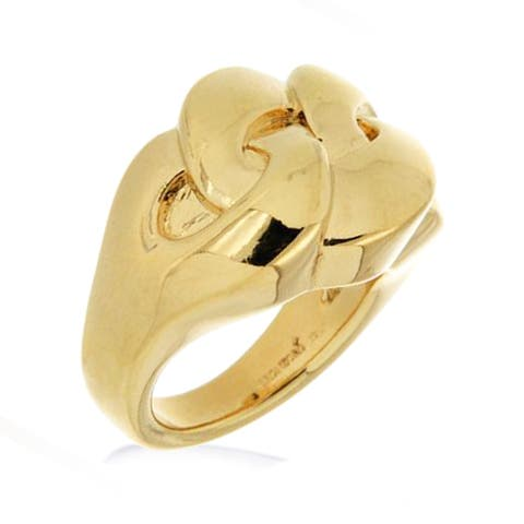 Forever Last 18 kt Gold Plated Women's Braided Ring