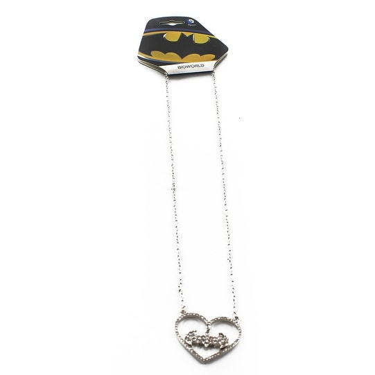 Batman Hanging Heart Necklace - multi