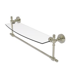 Allied Brass Retro Wave Collection Glass Vanity Shelf with Integrated Towel Bar