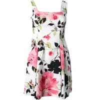 Lauren Ralph Lauren Womens Colette Casual Dress Floral Print Pleated