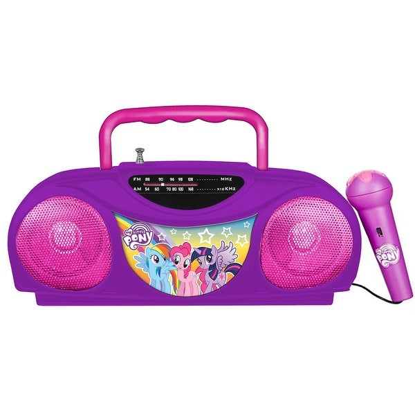 My Little Pony Portable Radio and Karaoke System with Microphone. Opens flyout.
