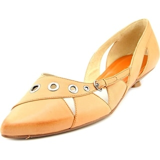 Chinese Laundry ROCHELLE Women Pointed Toe Leather Orange Flats