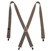 CTM® Men's Elastic X-Back Suspenders with Silver Hardware - one size