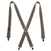 CTM® Men's Elastic X-Back Suspenders with Silver Hardware