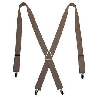 CTM® Men's Elastic X-Back Suspenders with Silver Hardware (More options available)