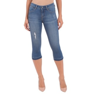 Lola Jeans Cassy-DMB, Mid Rise Capri With 4-Way Stretch