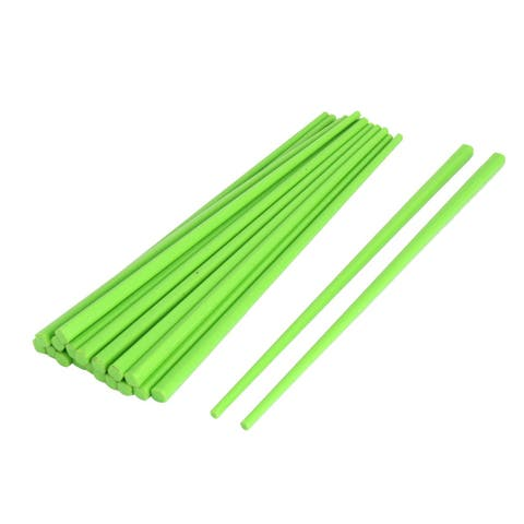 Household Tableware Plastic Chinese Chopsticks Green 22cm Length 10 Pairs