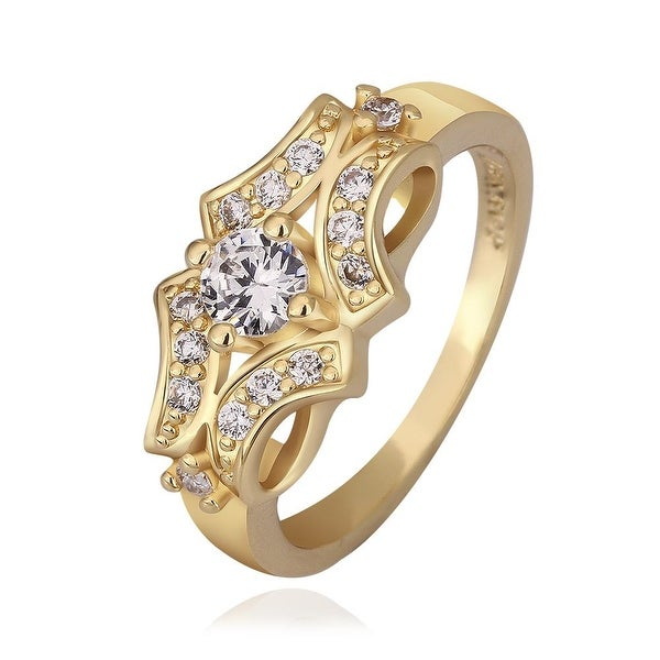 Gold Plated Blossoming Design Ring