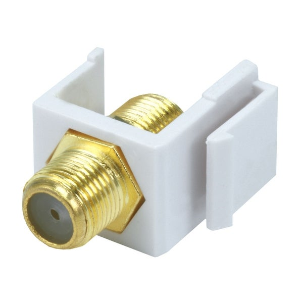 Monoprice Modular F-Type Female Coupler Keystone Jack - White