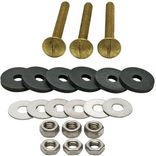 Fluidmaster 6105  Tank to Bowl Bolts Set of 3 with Washers and Nuts
