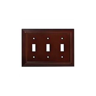 Franklin Brass W35249-C Classic Architecture Triple Toggle Switch Wall Plate