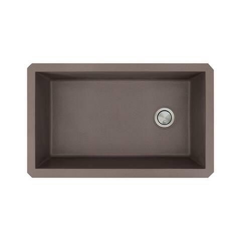 Transolid Radius Granite 31-inch Undermount Kitchen Sink