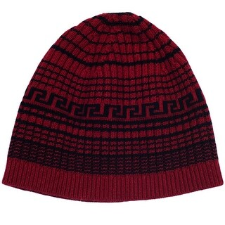 Versace VHB0827 0001 Red Knitted Beanie Wool/Cashmere Blend Hat