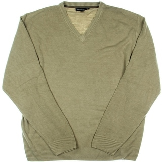 Tricots St. Raphael Mens V-Neck Textured Pullover Sweater
