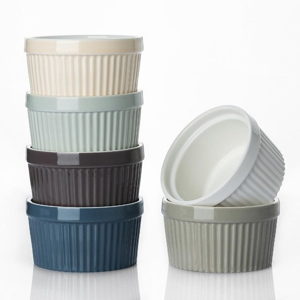 DOWAN 8 oz. Ceramic Round Ramekin. Opens flyout.