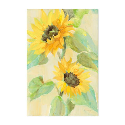 Flowers Sunflowers Painting Unframed Wall Art Print/Poster