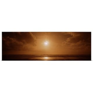 """Sunset over an ocean, California"" Poster Print"