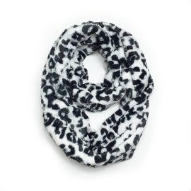 Super Soft Faux Fur Animal Print Warm Infinity Loop Circle Scarf