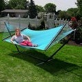 Sunnydaze Large 2-Person Rope Hammock with Spreader Bar & Hammock Stand - Thumbnail 28