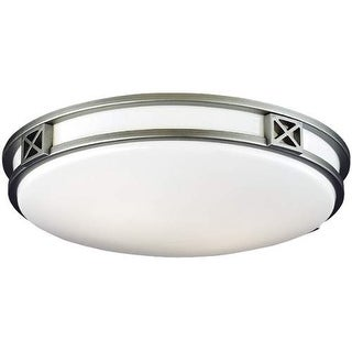 "Forecast Lighting F206012U 2 Light 16"" Wide Flush Mount Ceiling Fixture from the Crossroads Collection"