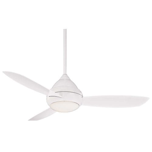 "MinkaAire Concept I Outdoor 3 Blade 52"" Concept I Indoor / Outdoor Ceiling Fan - Light, Wall Control and Blades Included"