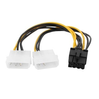2xLP4 to 8 Pin PCIE PCI Express Video Card Power Cable Adapter