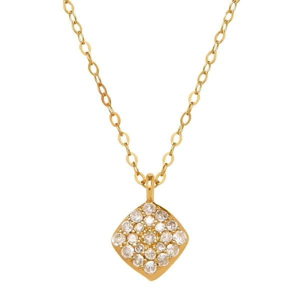 1/10 ct Diamond Tile Pendant in 14K Gold