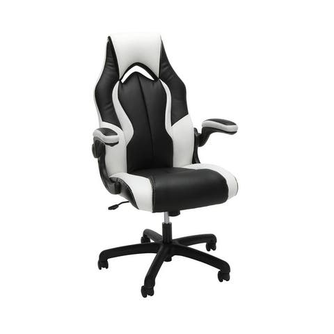 Essentials Ergonomic Leather and Mesh Racing Style Gaming Chair by OFM