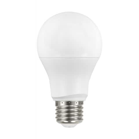 8 Watt A19 LED Dusk To Dawn 2700K Medium Base 200 degree Beam Angle 120 Volts - White