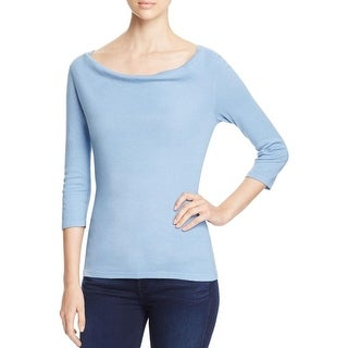 Three Dots Womens Pullover Top Modal Blend 3/4 Sleeves