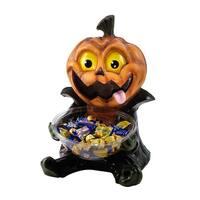 Trick Or Treat Pumpkin Candy Bowl Halloween Holder Prop
