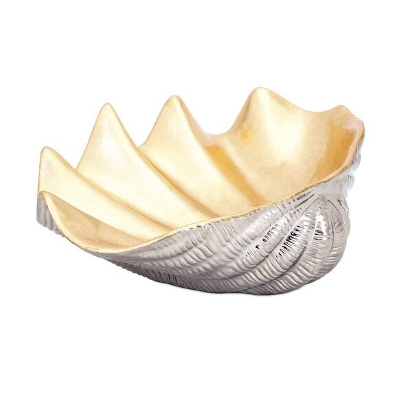IMAX Home 14446 Geneva Ceramic Decorative Bowl - Gold