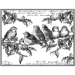 """Crafty Individuals Unmounted Rubber Stamp 4.75""""X7"""" Pkg-Holly"""