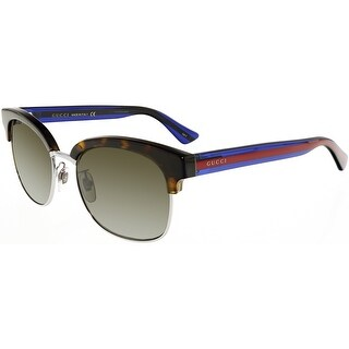 Gucci GG0056S-004-54 Blue Semi-Rimless Sunglasses