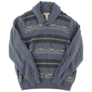 Dockers Mens Knit Colorblock Shawl-Collar Sweater - L
