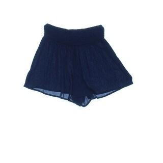 Fire Womens Juniors Shorts Textured Smocked Waist