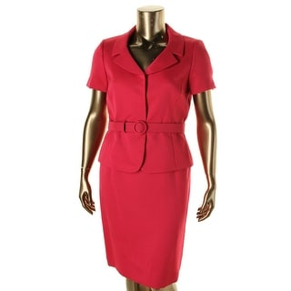 Tahari ASL Womens Richard Textured 2PC Skirt Suit
