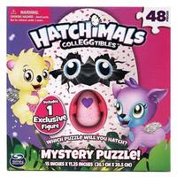 Hatchimals Colleggtibles Mystery Puzzle 48 Pieces - Includes 1 EXCLUSIVE Figure - MultiColor