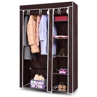 Costway 69 X27 Portable Closet Storage Organizer Clothes Wardrobe Shoe